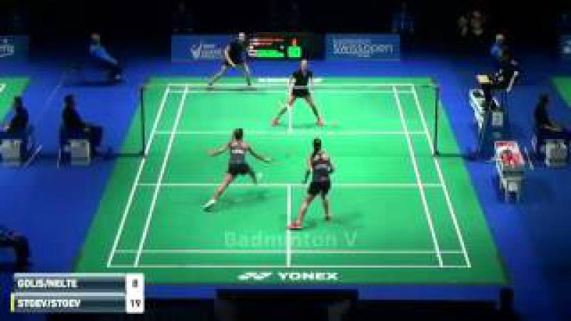 Swiss Open Badminton 2016 Gabriela STOEVA Stefani STOEVA vs Johanna G Carla NELTE