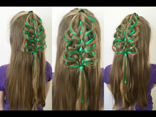 Loop Braid Christmas Tree Hairstyle | 12 Braids of Christmas |