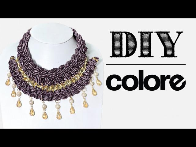 DIY Collar Trenzado Doble | Colore Accesorios