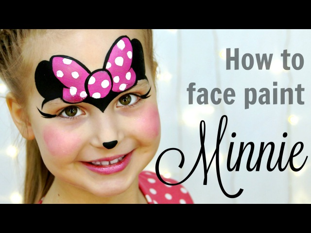 Minnie Mouse Face Painting Tutorial — Fast Easy Makeup for Kids