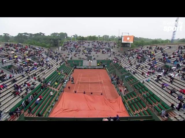 Pironkova-Radwanska sur le Lenglen, on rebâche au bout d'une demi-heure de jeu
