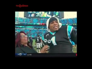 Cam Newton Gets Slapped on the Butt During Interview, Has Priceless Reaction !