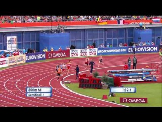 800m Men's Semifinal 1 - European Athletics Championships 2016