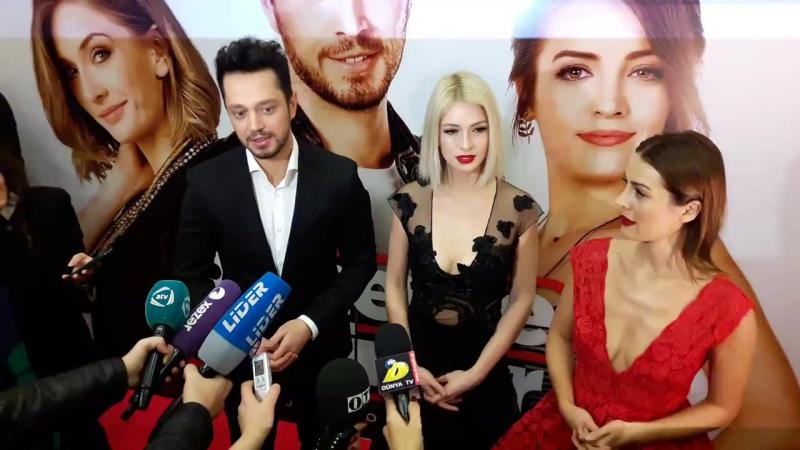Dönerse Senindir filminin Galası Murat Boz Yasemin Allen İrem Sak Baku Niza