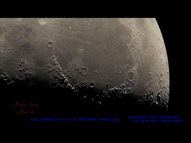 Super Moon, 300x magnifikation! UHD , Leica Apo-Telyt, up to 15 000mm