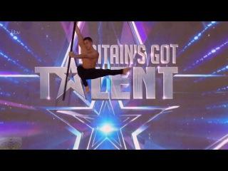 Britain's Got Talent 2016 S10E06 Saulo Sarmiento Aerial Acrobat Pole Dance Full Audition