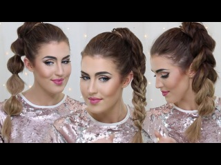 How To: Ponytail 3 ways ~ Easy Party Ponytail Ideas