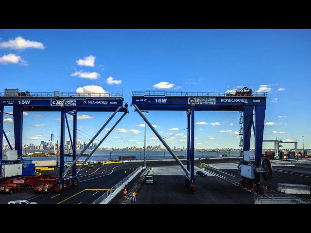 GCT Bayonne's First Five RMGs from Konecranes Unloading
