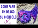 Come fare un drago in Fimo su Cammeo Tutorial DIY Ciondolo