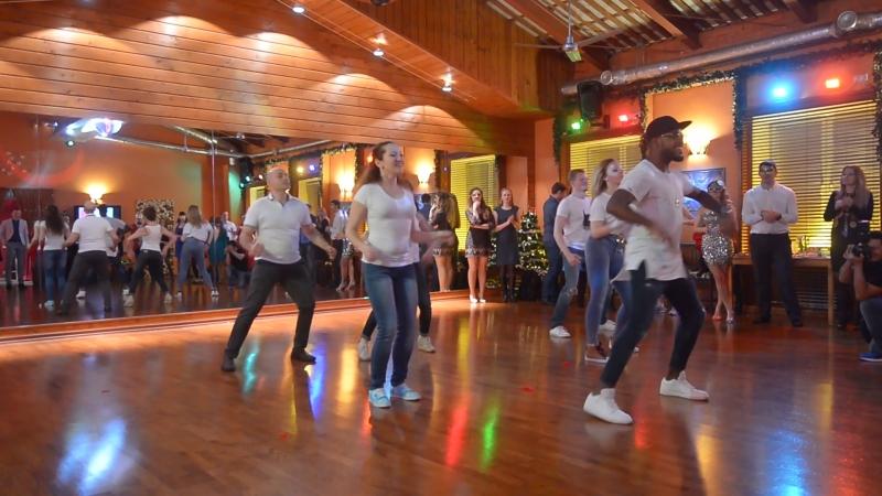 Адонис Сантьяго и команда Тимба прокача💪 Шоу номер на Новогодний вечеринке Dance Station