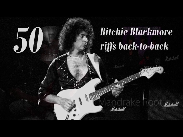 50 Ritchie Blackmore Riffs Played Back-to-Back