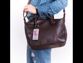 Женская коричневая мягкая молодежная сумочка