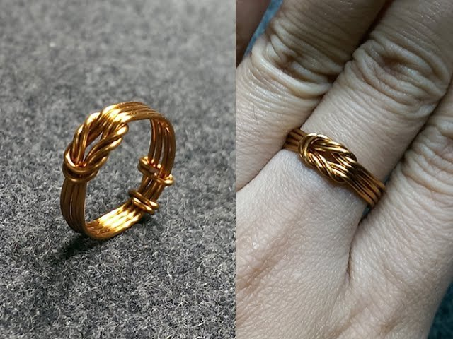 Copper wire knot ring handcrafted copper jewelry 147
