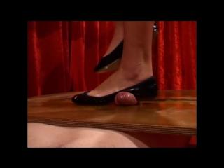 Julia's heels flats footjob / shoejob / cock crush / foot fetish