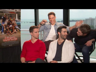 Ryan Guzman, Blake Jenner, Tyler Hoechlin Will Brittain Interview - EVERYBODY WANTS SOME