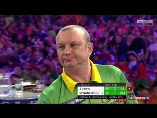 Jamie Lewis vs Darren Webster (PDC World Darts Championship 2018 / Quarter Final)