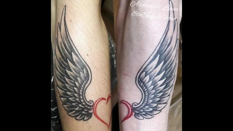 фото тату крылья для пары думают, что