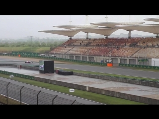 Force India in Wet Shanghai