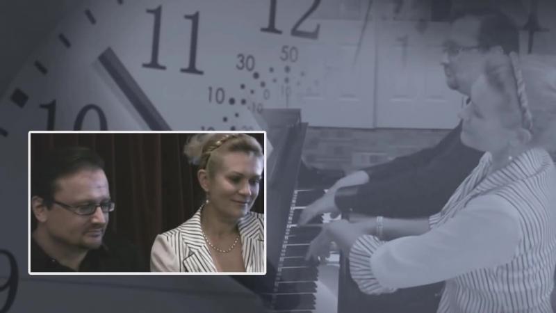 Valery Gavrilin The Little Clock from Zarisovki for Piano Duet by Olga Kharitonova and Igor Machlak