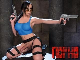 Девушка с членом, транс секс, Tomb Raider Лара Крофт и Анальный Артефакт, ледибой [Full HD 1080 BIG Tits Trans sex gey porno]