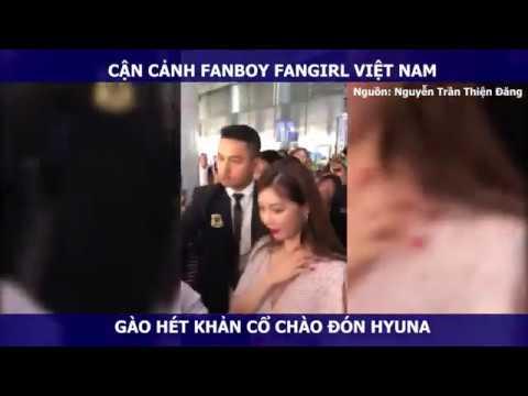 Cận cảnh HyunA bẽn lẽn, vẫy tay chào khi thấy fan Việt gào hét, chào đón nồng nhiệt tại sân bay!😘😘