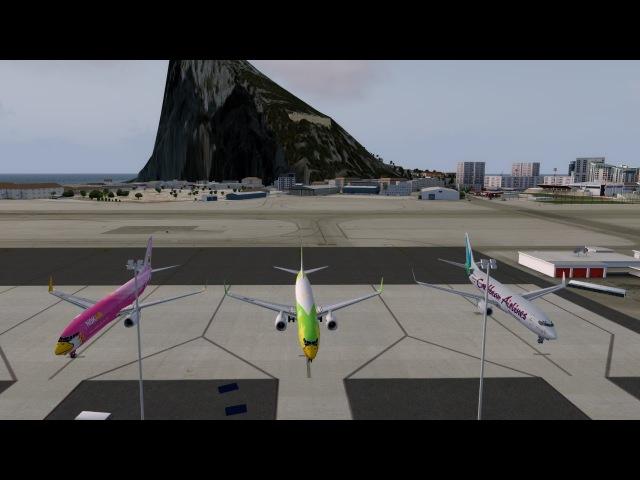 Prepar3D ВС Boeing 737 800 Рейс LYTV LXGB