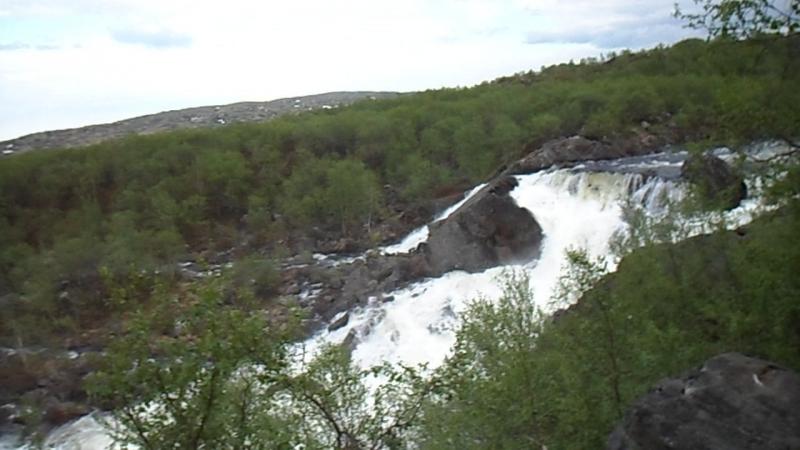 Водопад на реке Титовка 03 07 2017