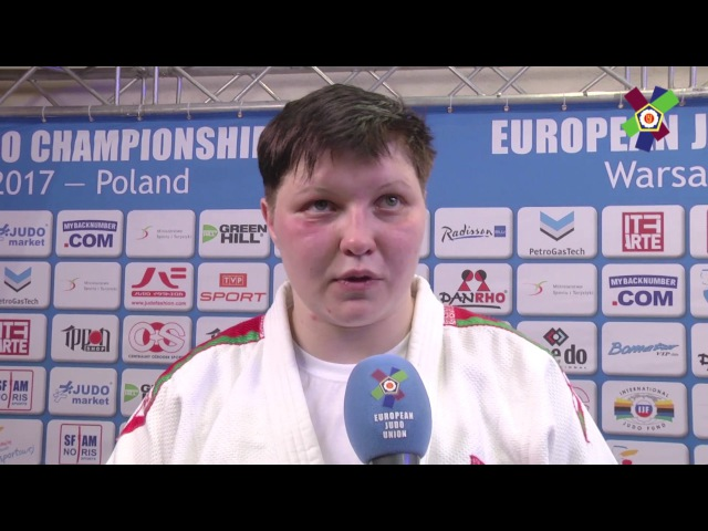 JudoWarsaw2017 Interview with Maryna SLUTSKAYA BLR 78kg