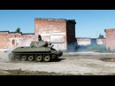 WW2 T-34-76 Tank. The first test after a long restoration.