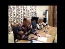 Петров Аркадий методист цента Фесик Наталья в библиотеке им Ключевского Апрель 2016 год