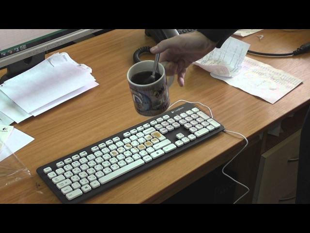 Тестирование моющейся клавиатуры k310