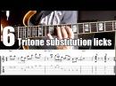 6 Tritone Substitution Jazz Guitar Licks With Tabs II V I progression