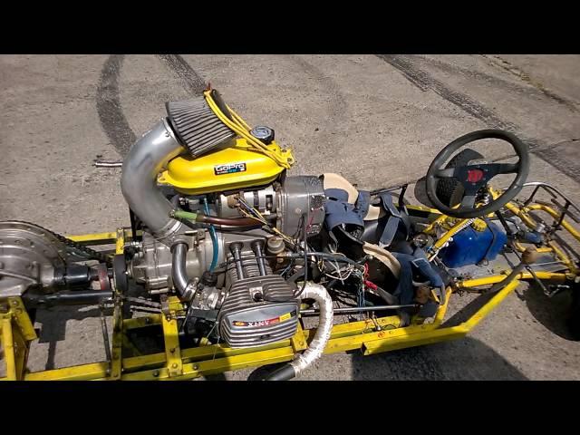 картинг с мотором 650 куб.см. днепр .краткий обзор