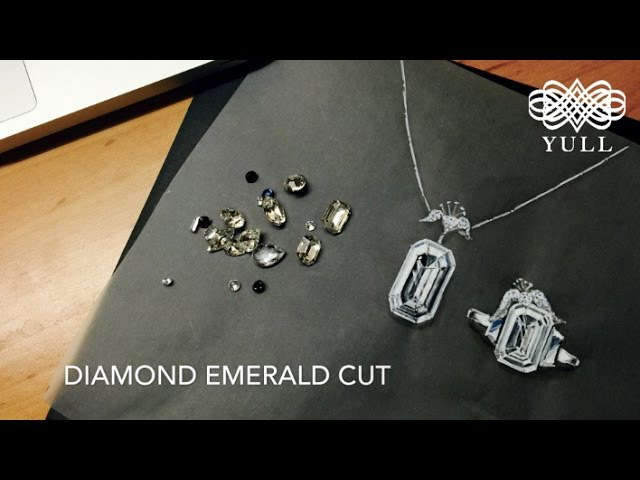 YULL jewelry design sketch in London 율 쥬얼리 디자인 diamond emerald cut