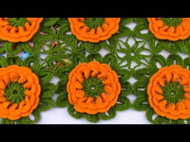 Flores tejidas a crochet para aplicar en manteles y centros de mesa paso a paso
