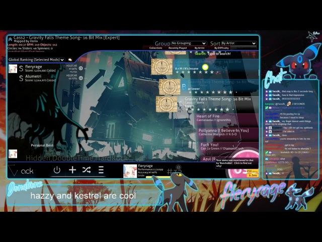 Fieryrage Cass2 Gravity Falls Theme Song 16 Bit Mix Expert HDHRDT 97.18% FC 685pp