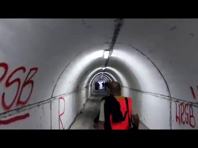 Marakana stadium,walking-player tunnel