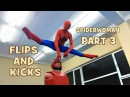 Spiderman or Spiderwoman 2018/Amazing kicks and Flips
