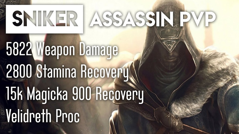 ESO Sniker's Assassin PvP Build for Stamblade Wolfhunter Patch