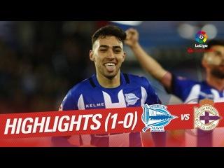 Resumen de Deportivo Alavés vs RC Deportivo (1-0)