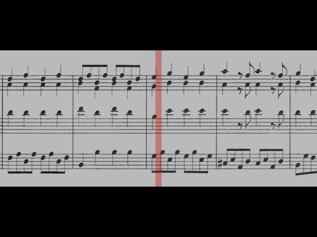 550 J S Bach Prelude and Fugue in G major BWV 550 Gerubach Scrolling