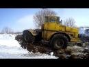 Открытие сенажной ямы и чистка дорог к яме К 700 А