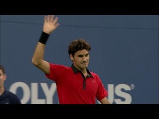 US Open 2009: Incredible Roger Federer Tweener vs Novak Djokovic