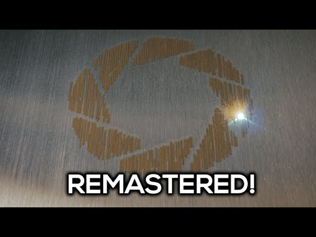[REMASTERED] Portals Still Alive Played by a Fiber Laser in 4K!