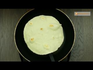 Хоть каждый день готовь такой лаваш! Быстрый и простой рецепт лаваша на сковородe