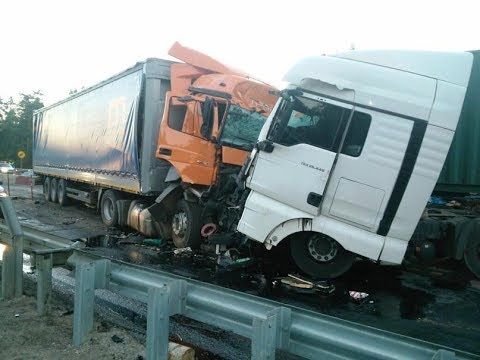 аварии грузовиков 2018 грузовики фуры дальнобойщики без тормозов