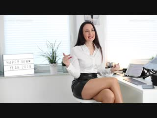 Sheer tights, leather skirt - unboxing louboutin high heels ¦ asmr