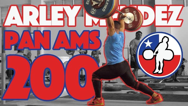 Arley Mendez Part 12 (140kg Snatch 200kg CJ 210kg Clean) - 2018 Pan Ams Training Hall [4k 60]