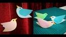 Paper Bird | How to Make Moving Paper birds | Bird Hanging | DIY Wall Hanging Decor