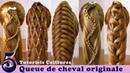 Tuto coiffures 🌺 queue de cheval originale (5 idées) 🌺 facile à faire 🌺 Ponytail Hairstyles